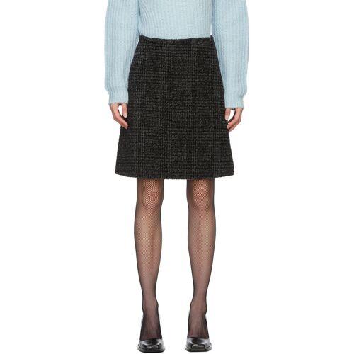 Proenza Schouler Black Wool Plaid Skirt 23
