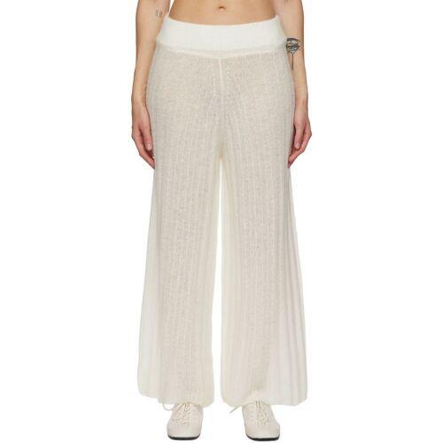 RUS Off-White Alpaca Shoji Lounge Pants 26