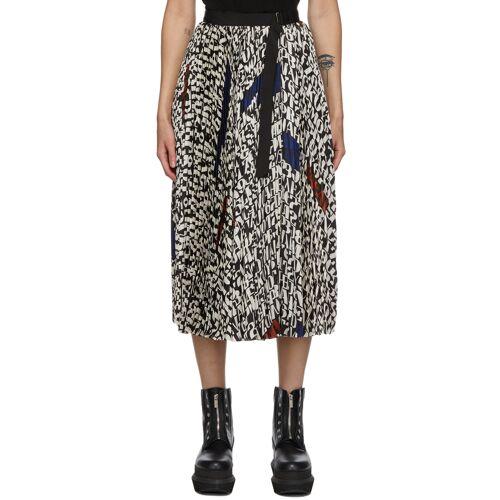 Sacai Black & White Girard Print Skirt 28