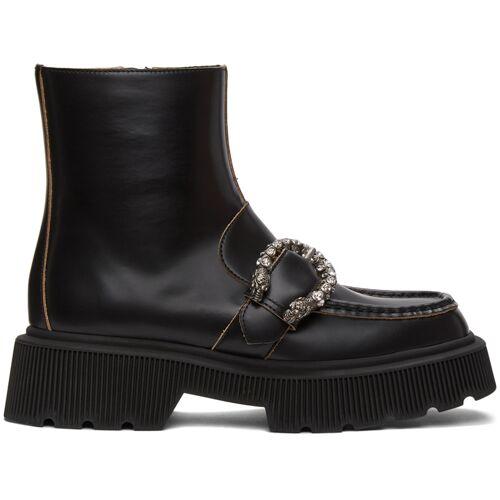 Gucci Black Tiger Head Buckle Boots 37