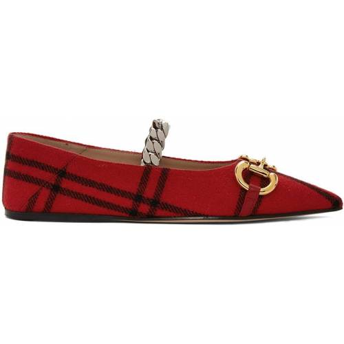 Gucci Red Wool Deva Ballerina Flats 41