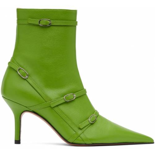 Abra Green Belt Heeled Ankle Boots 38