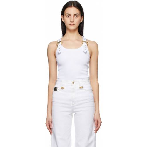 Versace Jeans Couture White Buckle Tank Top 50