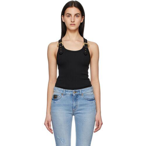 Versace Jeans Couture Black Buckle Tank Top XXL