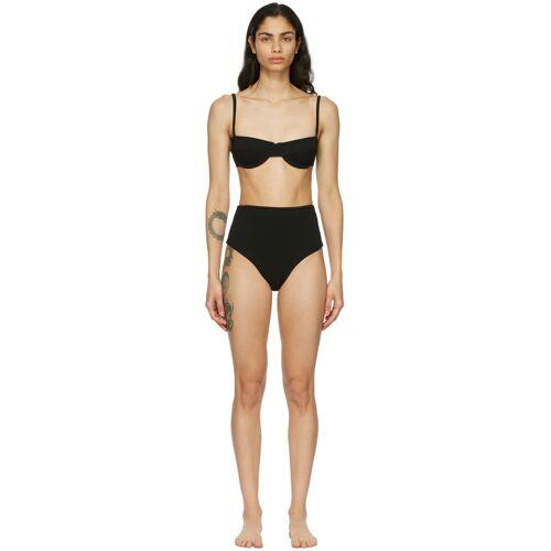 Haight Black Crepe Vintage Bikini 34