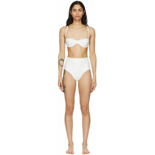 Haight Off-White Crepe Vintage Bikini 36