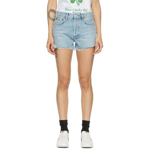 AGOLDE Blue Parker Vintage Shorts 24