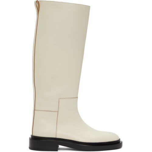 Jil Sander Off-White Riding Boots 41