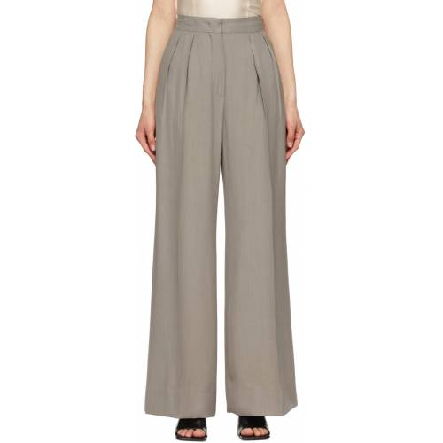 Sportmax Grey Wool Navigli Trousers 26