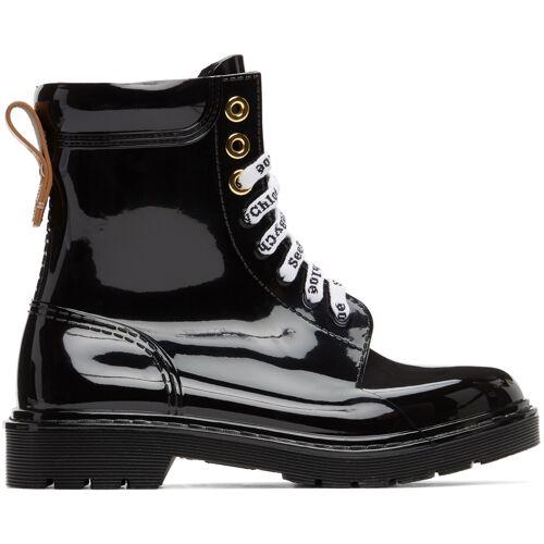 See by Chloé Black Florrie Rain Boots 36