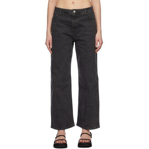 AMOMENTO Grey Semi Wide Boot Cut Jeans 26
