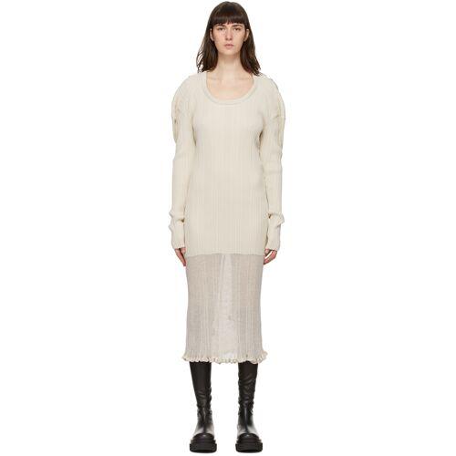 System Off-White Sheer Panel Dress S