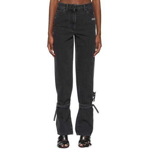 Off-White Black String Jeans 24
