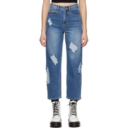 SJYP Blue Damaged Jeans 24