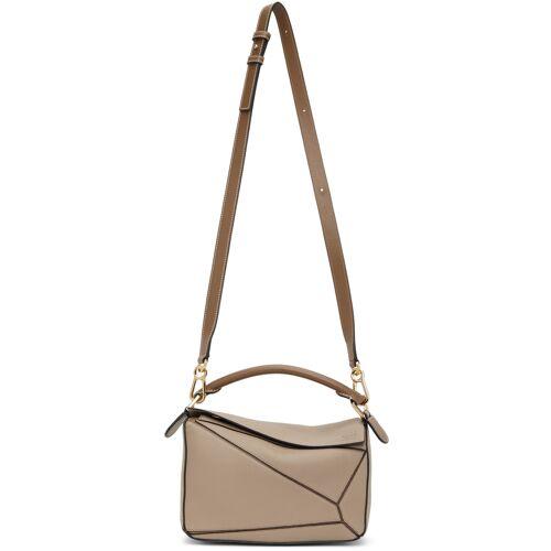 Loewe Taupe Small Puzzle Bag UNI