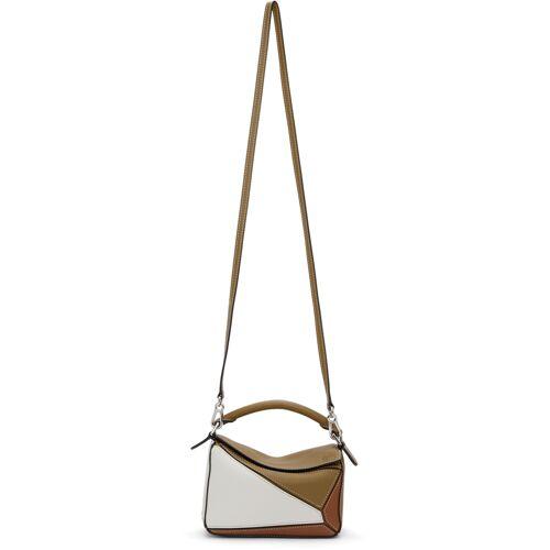 Loewe Khaki & Tan Mini Puzzle Bag UNI