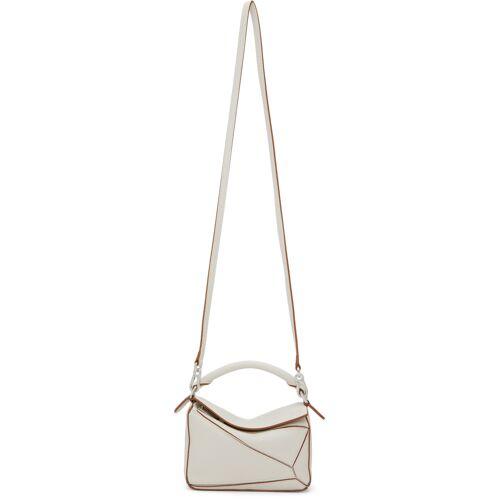 Loewe White Mini Puzzle Bag UNI