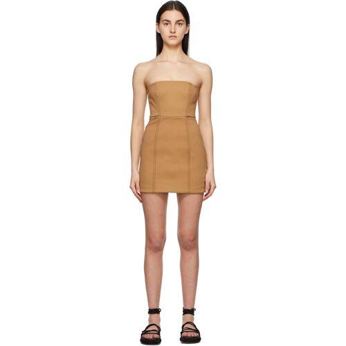 SIR. Tan Strapless Andre Mini Dress L