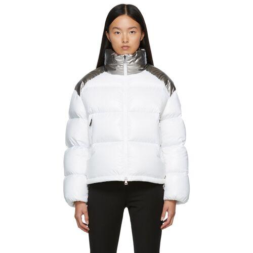 Moncler White & Silver Down Cuscute Jacket M