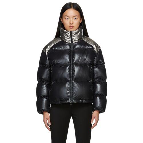 Moncler Black & Silver Down Cuscute Jacket L
