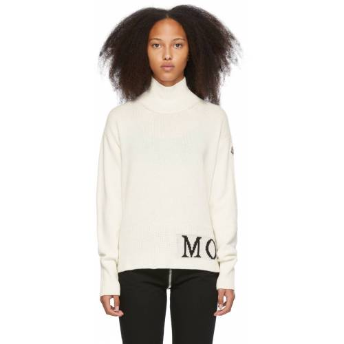 Moncler Off-White Lupetto Turtleneck L