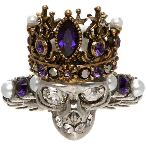 Alexander McQueen Silver Skull Queen Ring 49