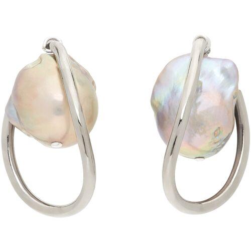 Mounser Silver Waxing Hoop Earrings UNI