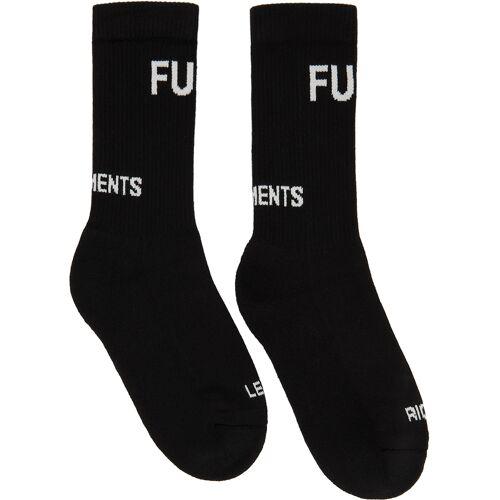 VETEMENTS Black 'Fuck' Socks 34/35