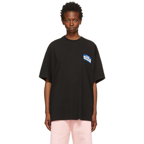 VETEMENTS Black 'My Name Is Vetements' T-Shirt XL
