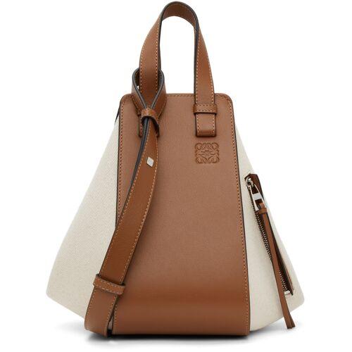 Loewe Off-White & Tan Small Hammock Bag UNI