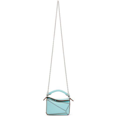 Loewe Blue Nano Puzzle Bag UNI
