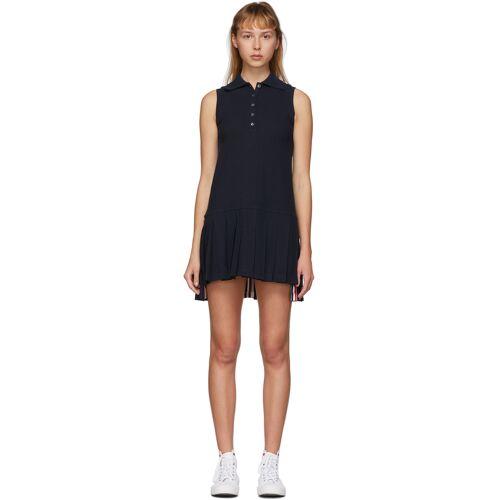 Thom Browne Navy Sleeveless Tennis Dress L