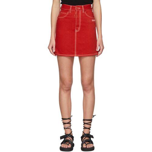 Off-White Red Denim Miniskirt 24