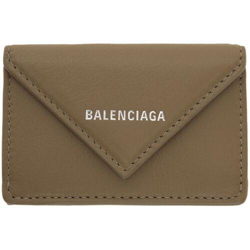 Balenciaga Grey Mini Papier Wallet UNI