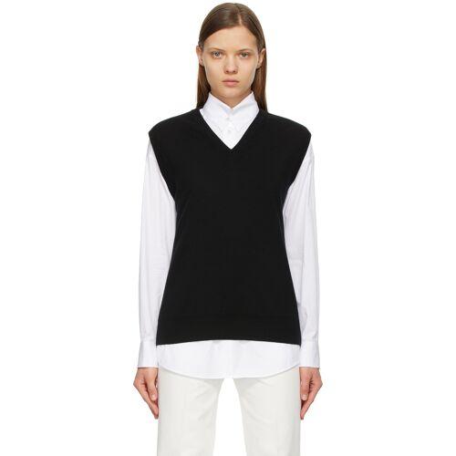 The Row Black Wool Cremona V-Neck Vest S
