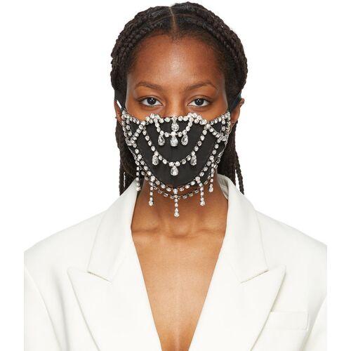 AREA Silver Crystal Teardrop Mask XS