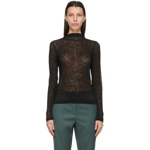 LVIR Black Mock Wrinkle Sweater L