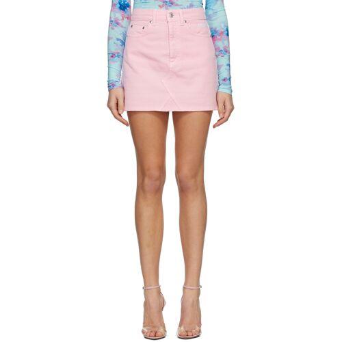 MSGM Pink Denim Miniskirt 30