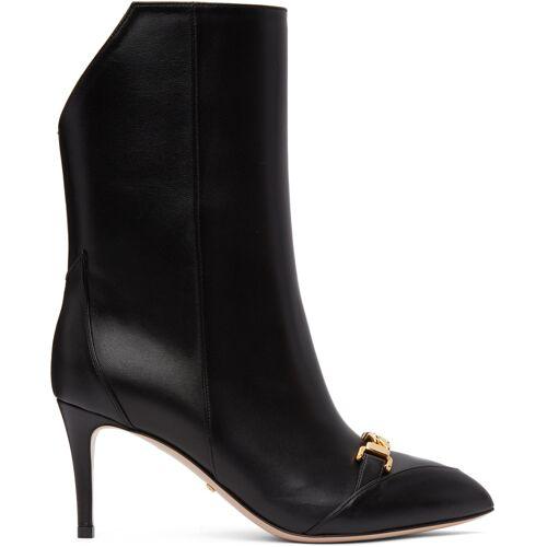 Gucci Black Sylvie Chain Boots 37.5