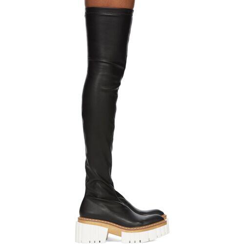 Stella McCartney Black Emilie Thigh-High Boots 40