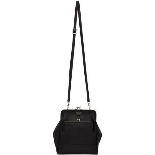 Y's Black Soft Wrinkled Clasp Bag UNI