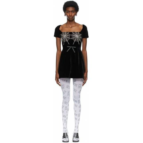 Ashley Williams Black Cobwebs Dress M