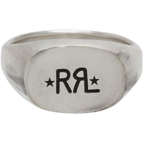 RRL Silver Logo Signet Ring 57