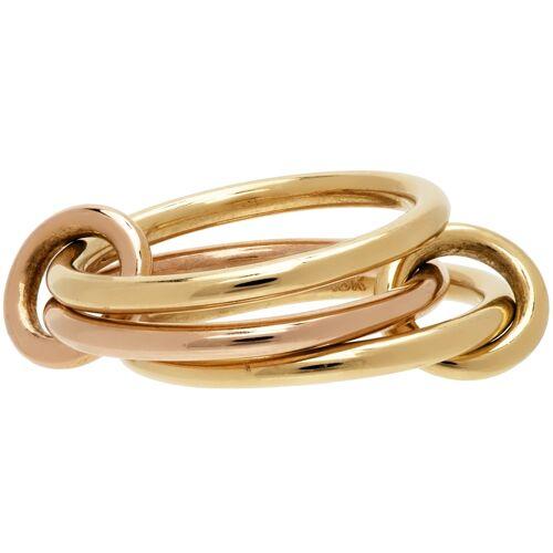 Spinelli Kilcollin Gold & Rose Gold Solarium Ring 57