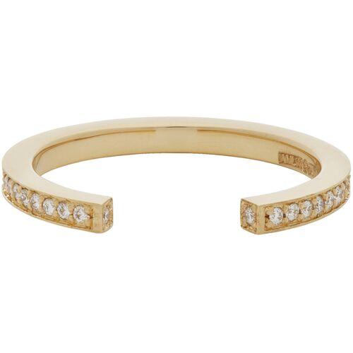 Annette Welander Rose Gold & Diamond Sequential 1 Arc Ring 54