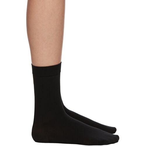 Wolford Black Cotton 80 Socks 38/39