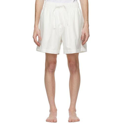Tekla White Flannel Pyjama Shorts XL