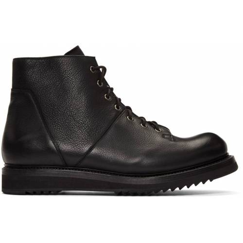 Rick Owens Black Monkey Creeper Sole Boots 39