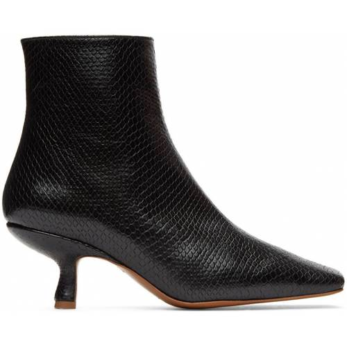 BY FAR Black Snake Lange Boots 39
