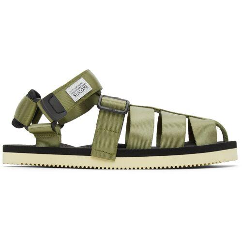 Suicoke Khaki SHACO Sandals 43